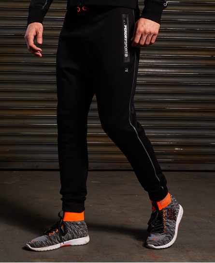 black/ash granite Superdry Gym Tech Slim Joggers