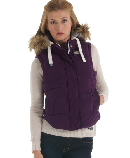 Superdry Hooded University Vest Pink
