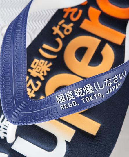 Vervaagde Scuba Logo teenslippers