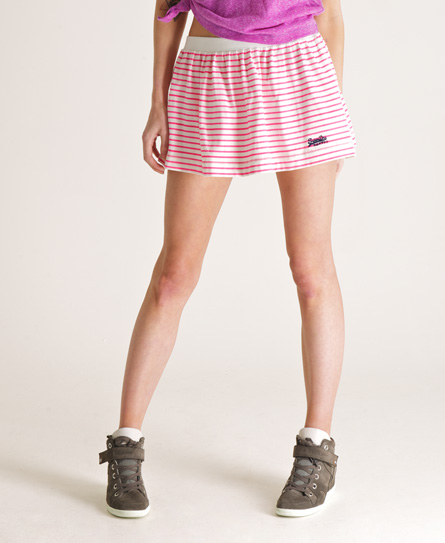 Superdry Candy Stripe Skirt Pink