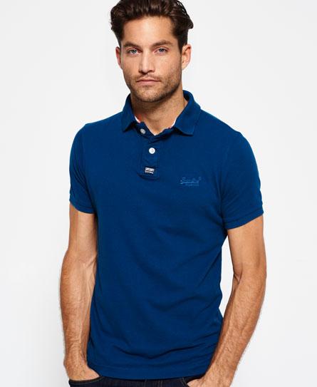 SELECTED Classic - Polo Shirt Men blue 8hQNCKZ6DO