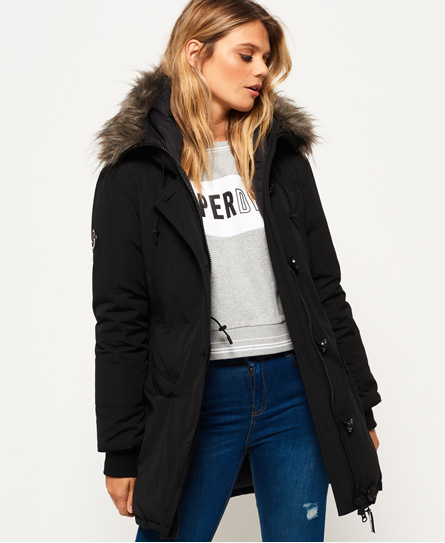 Womens - Rookie Down Parka Jacket in Black | Superdry