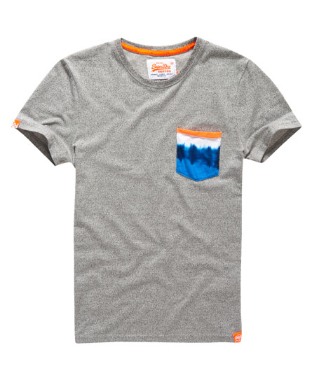 Mens tie dye pocket t shirt in grey grit superdry for Tie dye mens t shirts