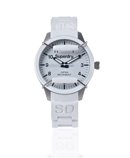 Superdry Scuba Midi Watch White