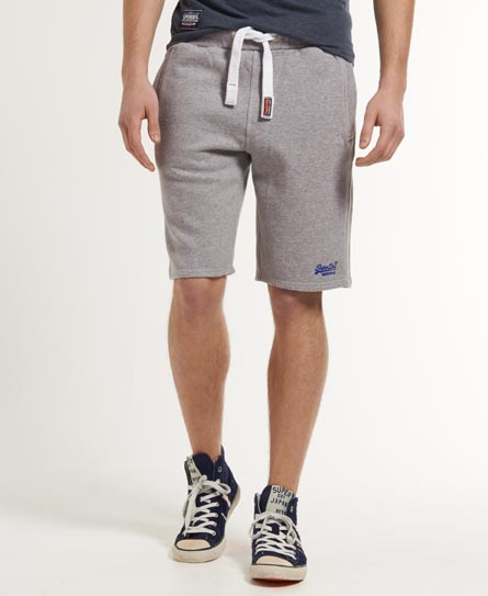 Mens - Sweat Shorts in Grey Marl | Superdry