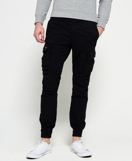 washed black Superdry Rookie Grip Cargo Pants