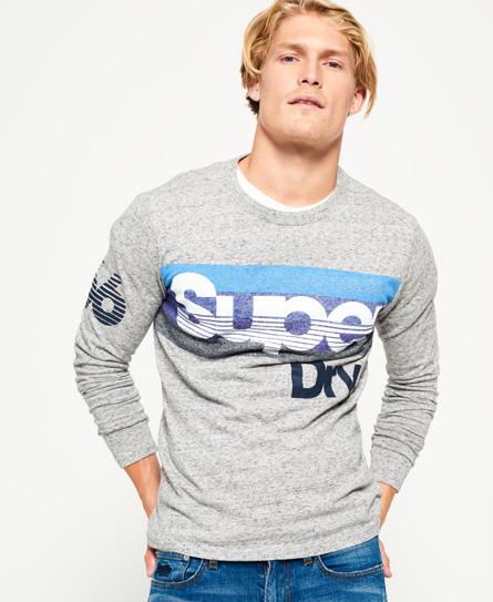 straßengrau gesprenkelt Superdry Langärmeliges Mountaineer T-Shirt mit Einsatz