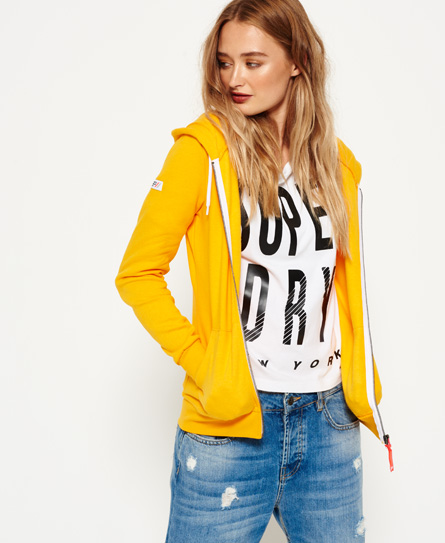 bolt gold Superdry LA Athletic Zip hoodie