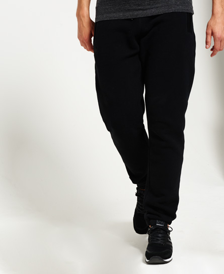 black Superdry Orange Label Urban Joggers