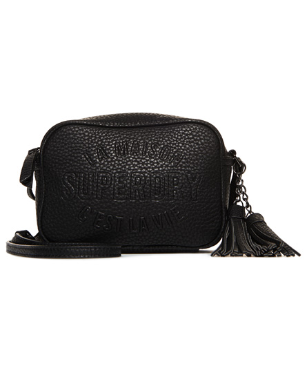 black Superdry Delwen Cross Body Bag