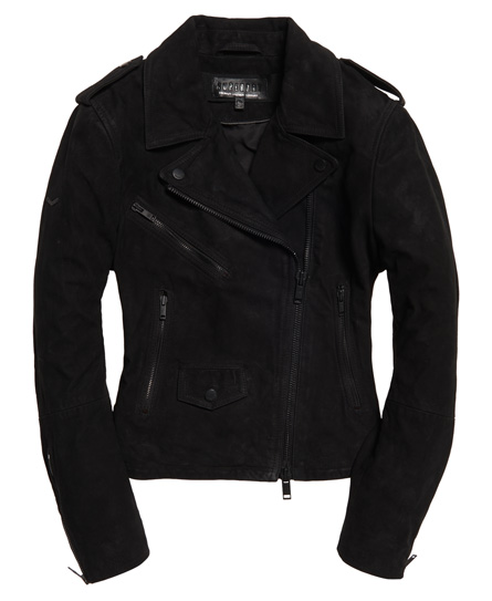 Superdry Mhairi Nubuck Leather Jacket