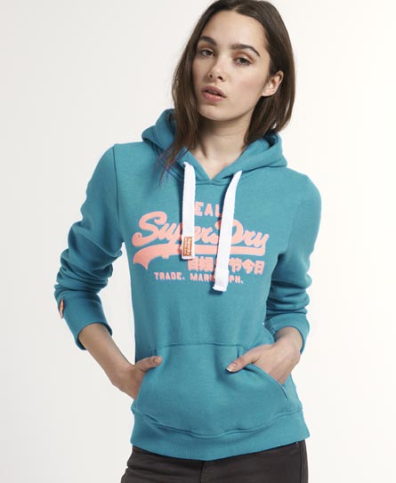 Superdry Drop Shadow Hoodie Blue