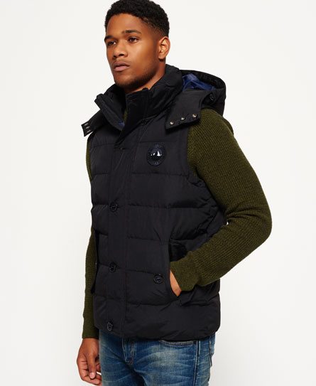black Superdry Everest Gilet