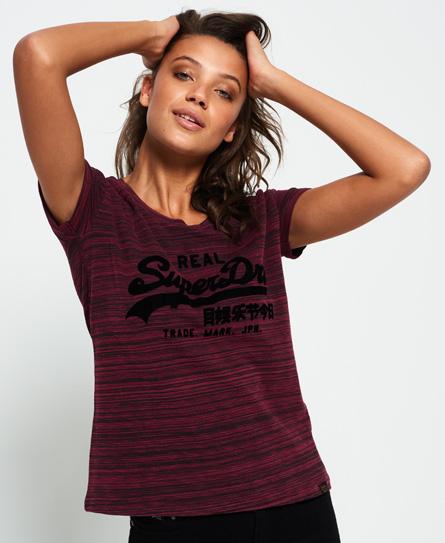 bordeaux queue de dragon Superdry T-shirt coupe boyfriend slim Vintage Logo