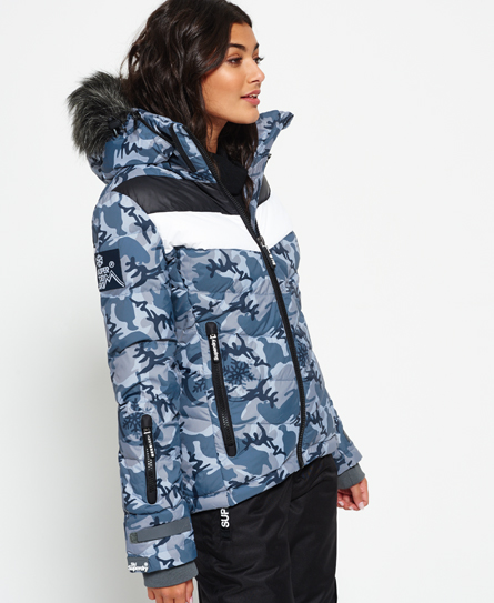 black ice camo Superdry Retro Chevron Down Puffer Jacket