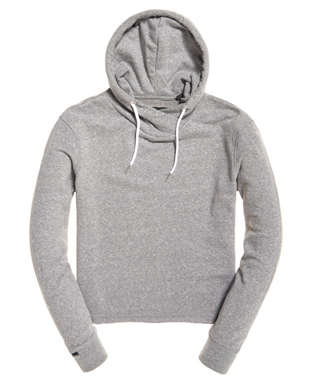 Superdry Orange Label Luxe Loopback Cropped Hoodie