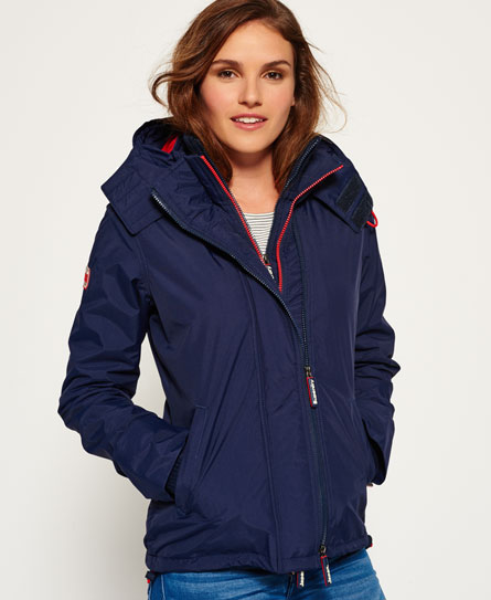 bleu marine/rouge rebelle Superdry Veste Pop Zip Hooded Arctic Windcheater