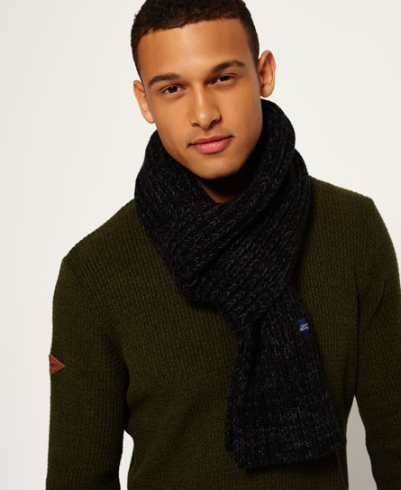 charcoal twist Superdry Super Cable Scarf
