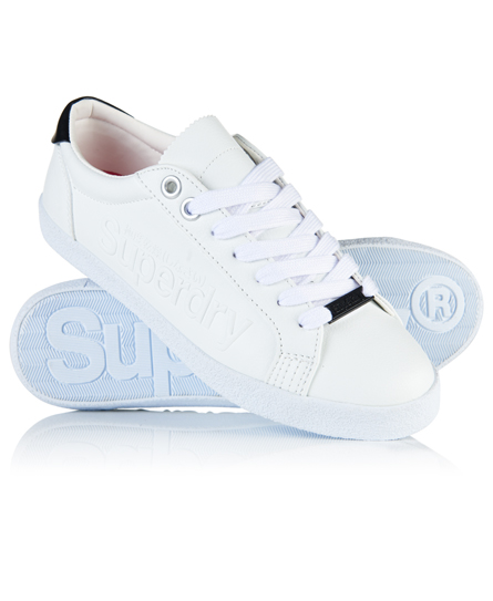 Super Sleek Logo Lo-Top Trainers Superdry