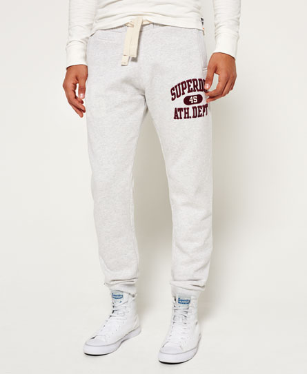 silver heather marl Superdry Core Applique Jogger