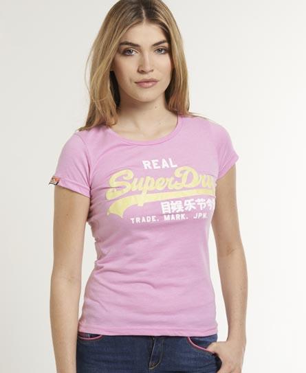 Superdry Vintage Glitter T-shirt Pink