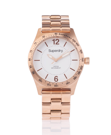 Superdry Infantry Steel Watch Gold