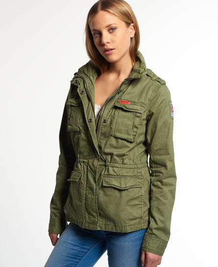 superdry veste rookie military vestes et manteaux pour femme. Black Bedroom Furniture Sets. Home Design Ideas