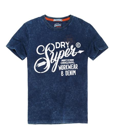 sonnige limette Superdry The Craftsman Indigo T-Shirt