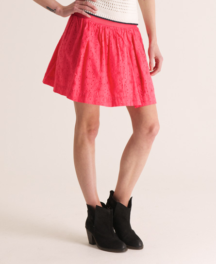 Superdry Cutty Skirt Pink
