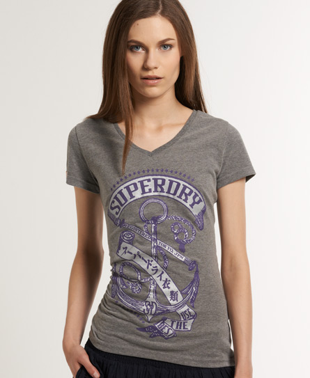 Superdry Anchor T-shirt Grey