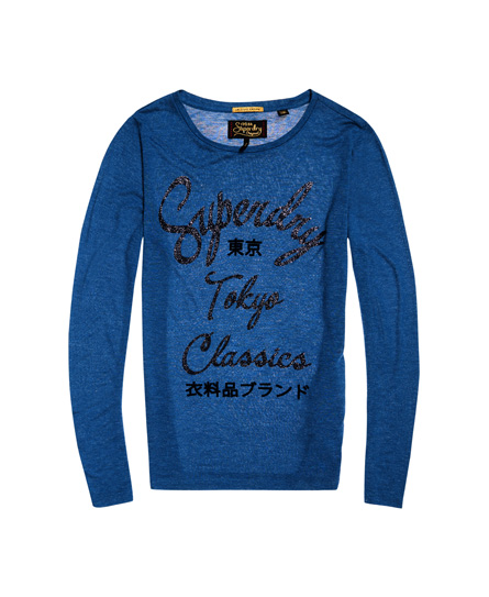 Superdry Dunloe Long Sleeve Graphic Top