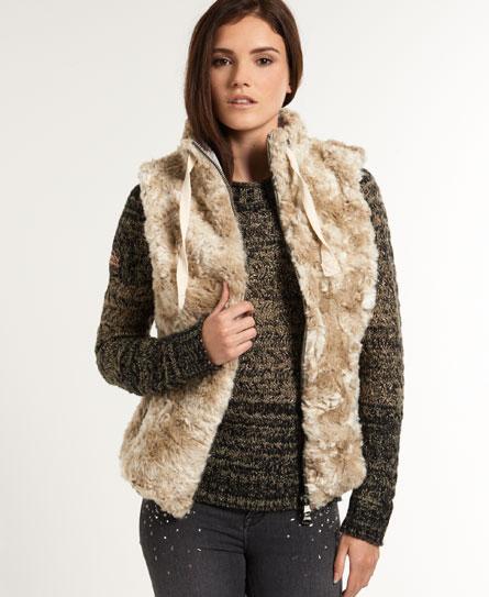 alaskan winter Superdry Antarctic Faux Fur Weste