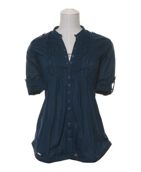 Superdry Vintage Pierrot Blouse Blue