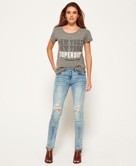 sunbleach destroy Superdry Imogen Slim Jeans
