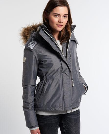 Superdry Superdry SD-Windattacker jakke med sherpaforet hætte med imiteret pels