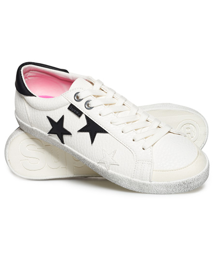 weiß/schwarz stern Superdry Super Sleek Logo Low-Top Sneaker