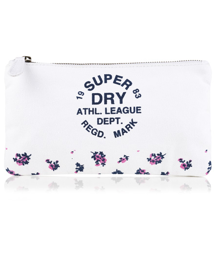 natural/dark navy Superdry Athletic League Pencil Case