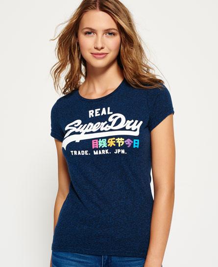 Vintage Logo T-shirt met regenboogkleuren