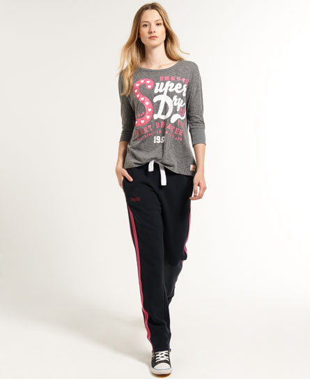 superdry pantalon de jogging slim hockey surv tements pour femme. Black Bedroom Furniture Sets. Home Design Ideas
