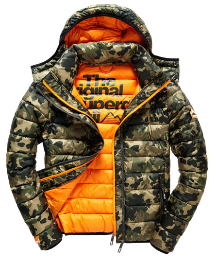 superdry fuji camo double zip jacke herren jacken m ntel. Black Bedroom Furniture Sets. Home Design Ideas