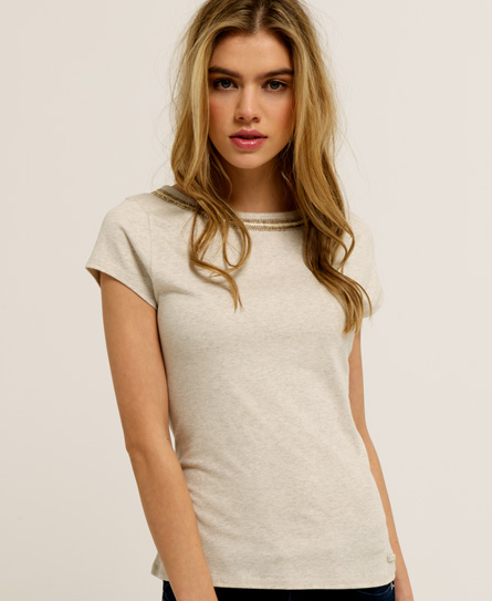 Superdry Luxe Sorority T-shirt Light Grey
