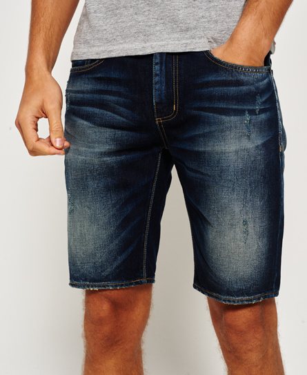 ironheart Superdry Officer Slim Denim Shorts