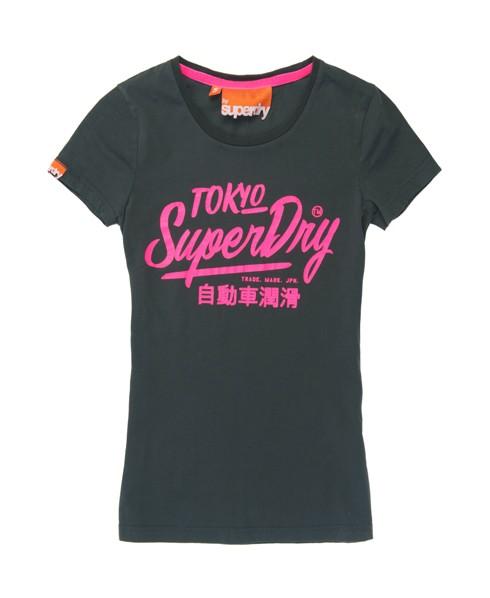 Superdry Ticket Type T-shirt Dark Grey