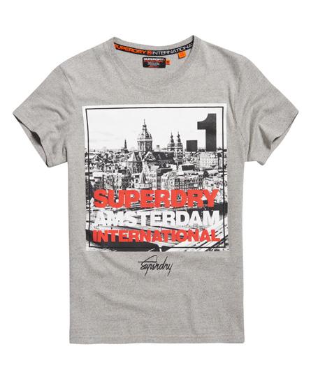 Superdry Superdry T-shirt med firkantet fotoprint af Amsterdam