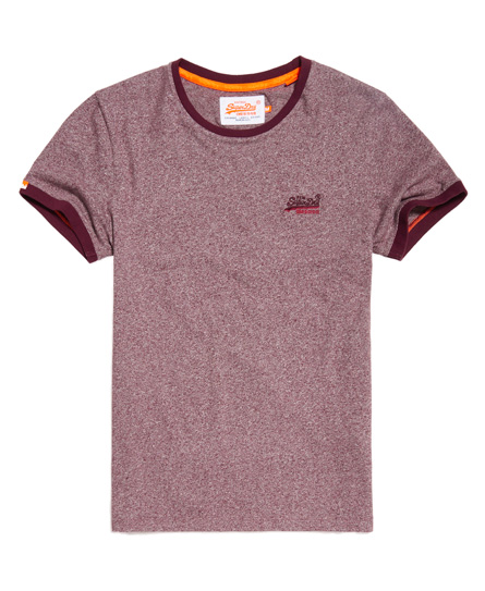 pastellbeere gesprenkelt Superdry Orange Label Cali Ringer T-Shirt