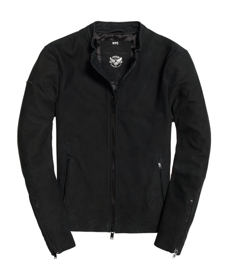 Superdry - Chaqueta ajustada Harrington de nobuk - 2