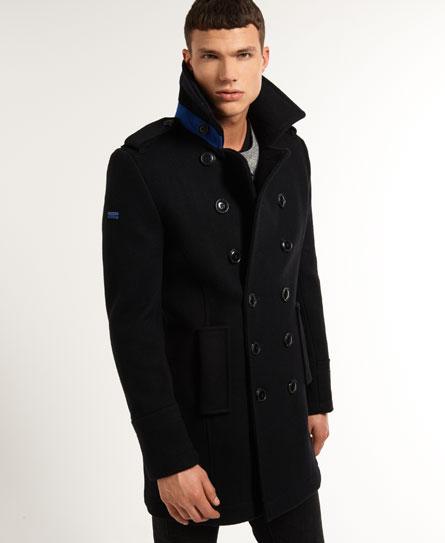 black/new royal Superdry Bridge Coat