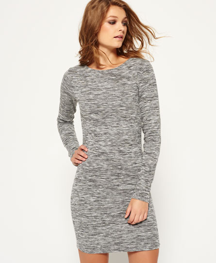 Superdry Augusta Bodycon-Kleid Grau