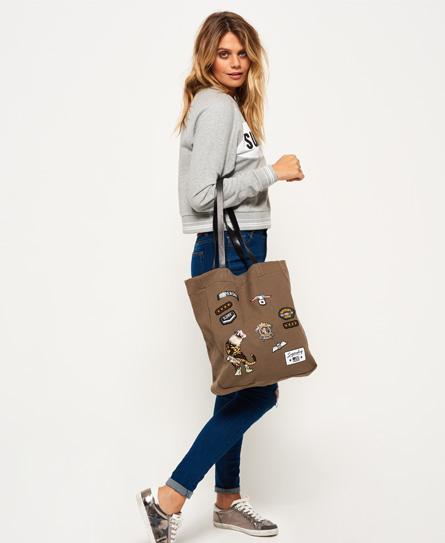Superdry Kinlie Einkaufstasche mit Aufnähern