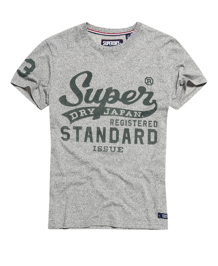 grey grit Superdry Standard Issue T-shirt